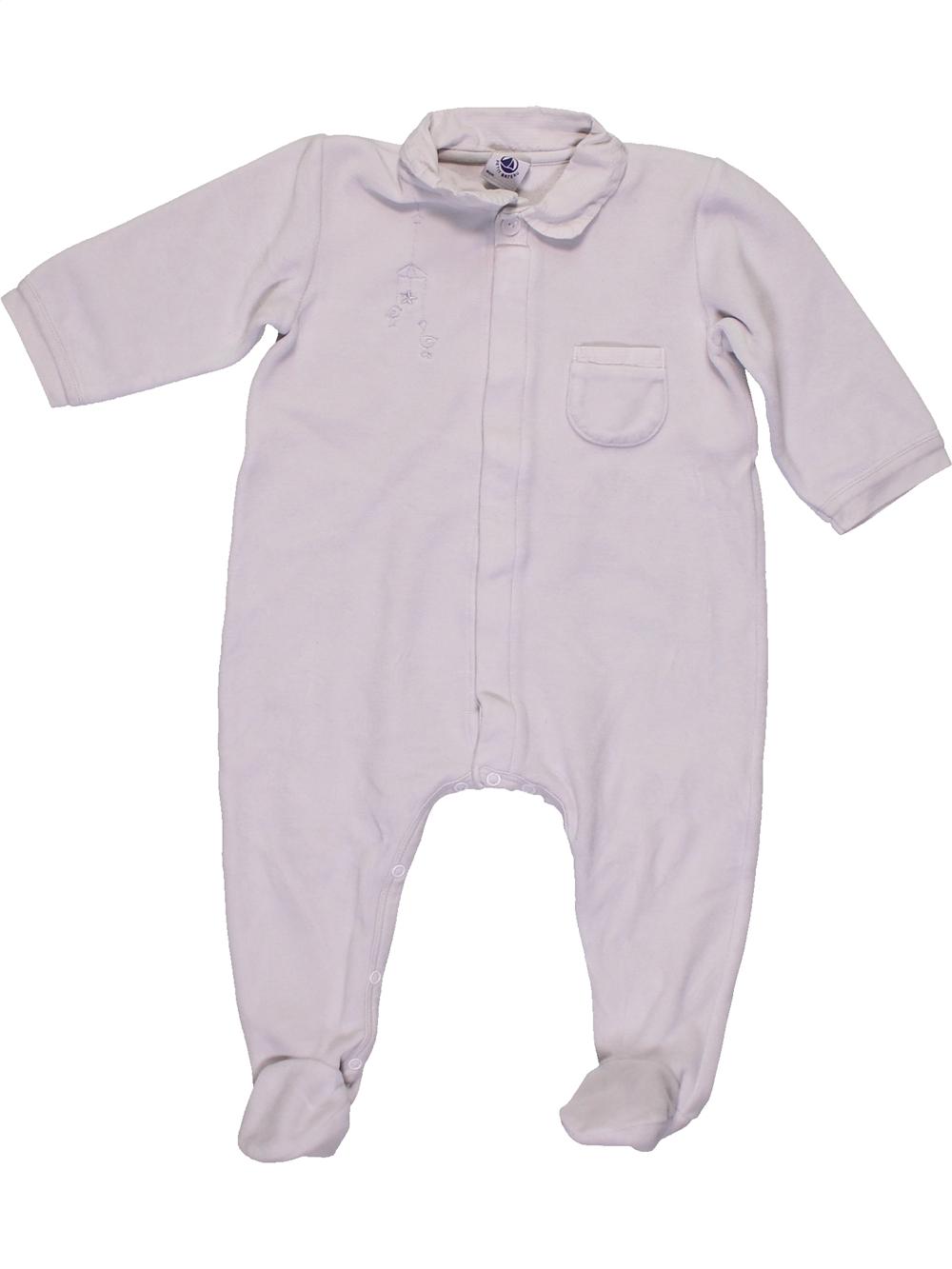 Pyjama-1-piece-bebe-unisexe-PETIT-BATEAU-12-mois-blanc-hiver-vetement-beb