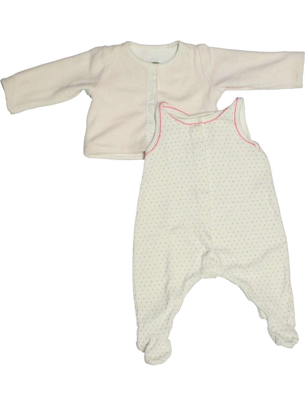 Pyjama-2-pieces-bebe-fille-PETIT-BATEAU-3-mois-blanc-hiver-vetement-bebe