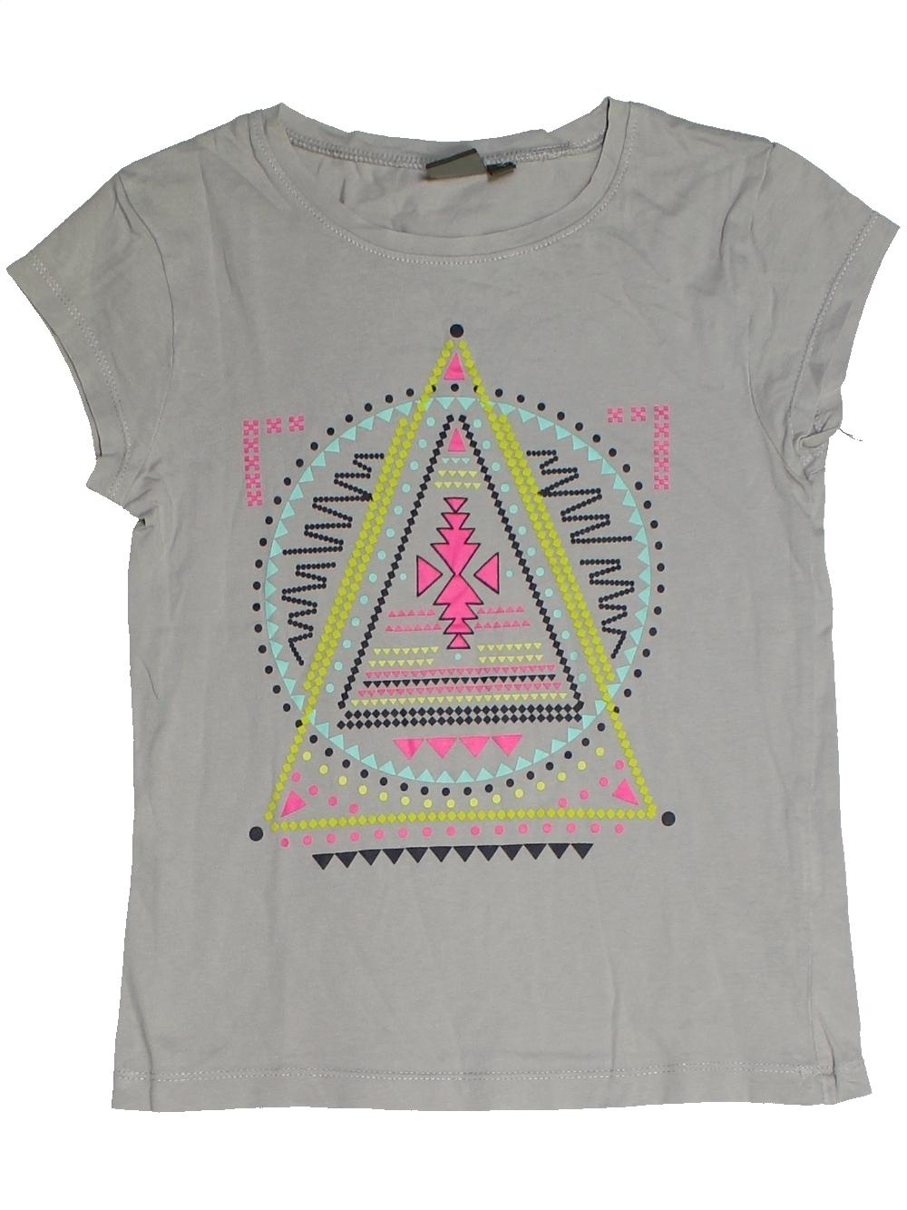 T-shirt-manches-courtes-enfant-fille-KIABI-10-ans-gris-ete-vetement-bebe