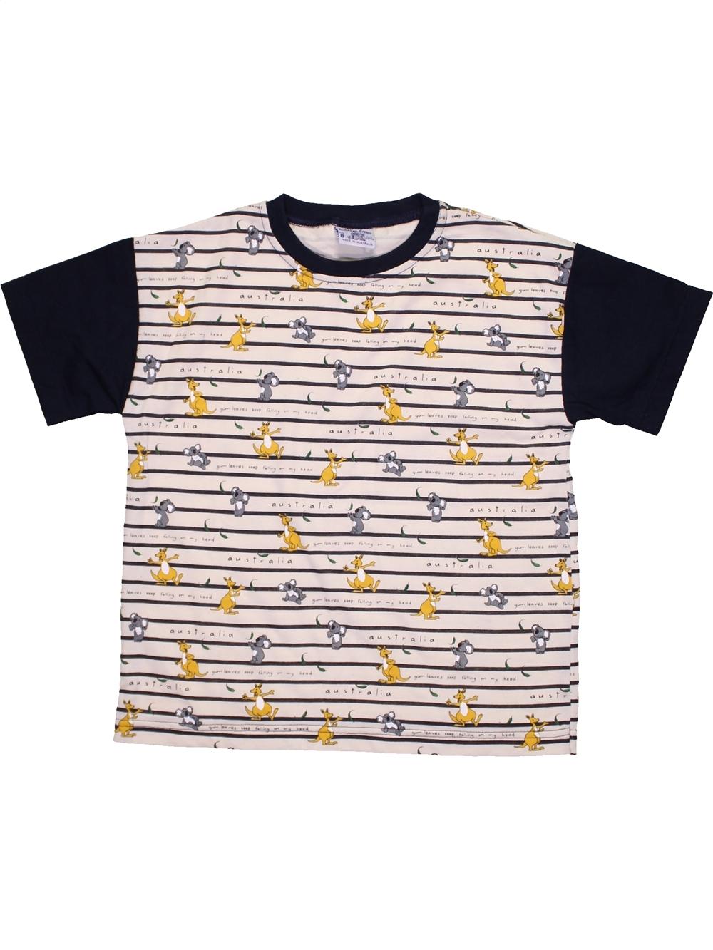 T-shirt-manches-courtes-enfant-garcon-AUSTRALIAN-GROWN-8-ans-noir-ete-vete