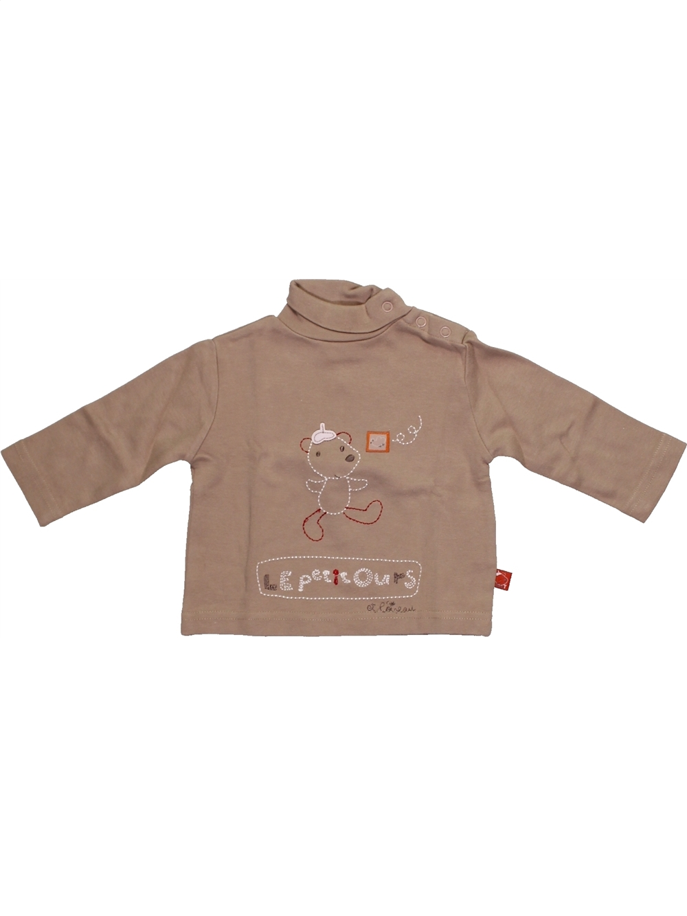 T-shirt-col-roule-bebe-garcon-CADET-ROUSSELLE-3-mois-beige-hiver-vetement