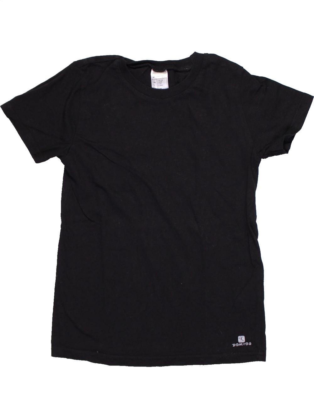 T-shirt-manches-courtes-enfant-garA-on-DOMYOS-6-ans-noir-A-tA-vA-tement-bA-bA
