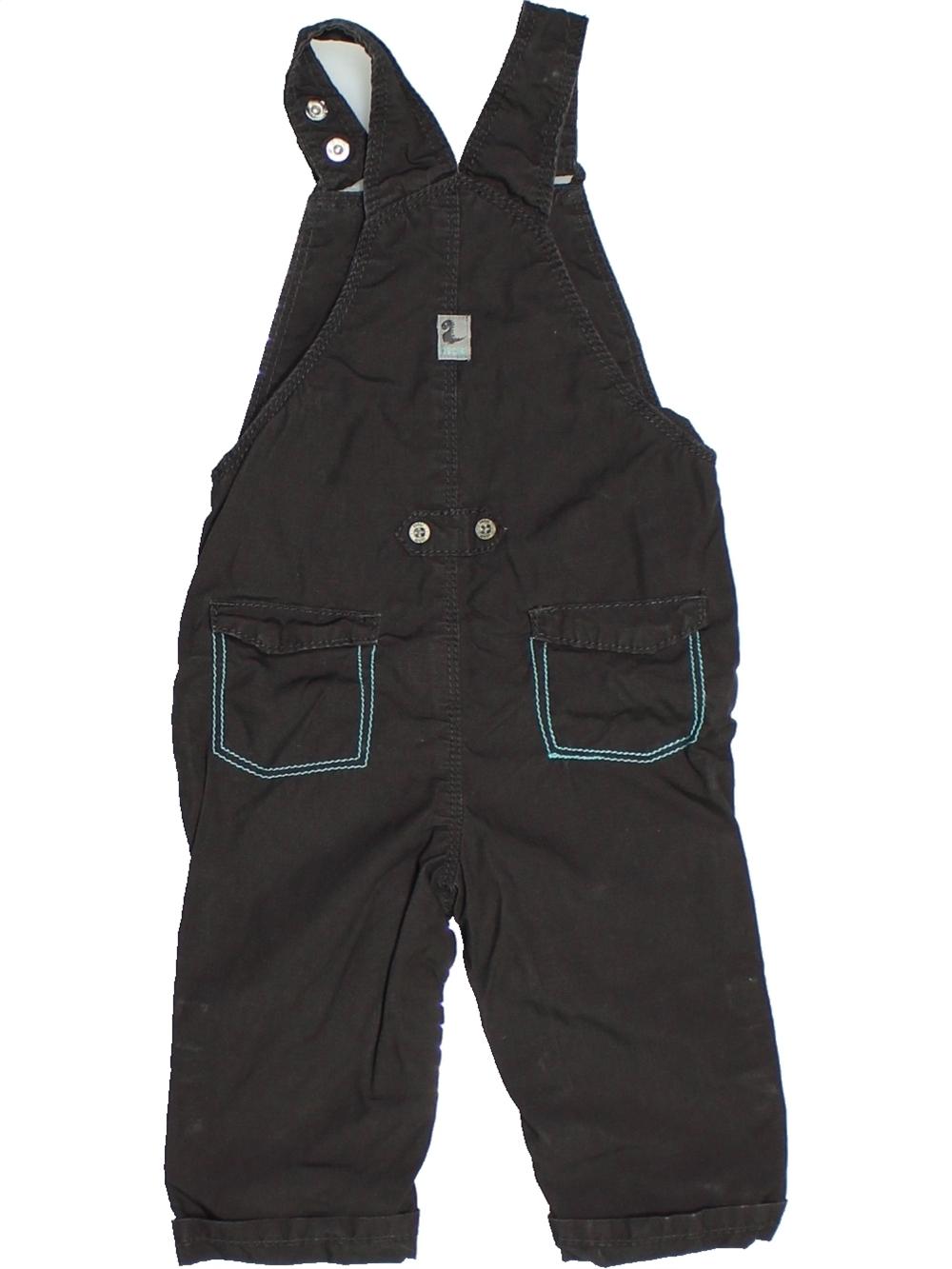 Salopette-bebe-garcon-OKAIDI-9-mois-noir-hiver-vetement-bebe-1099611