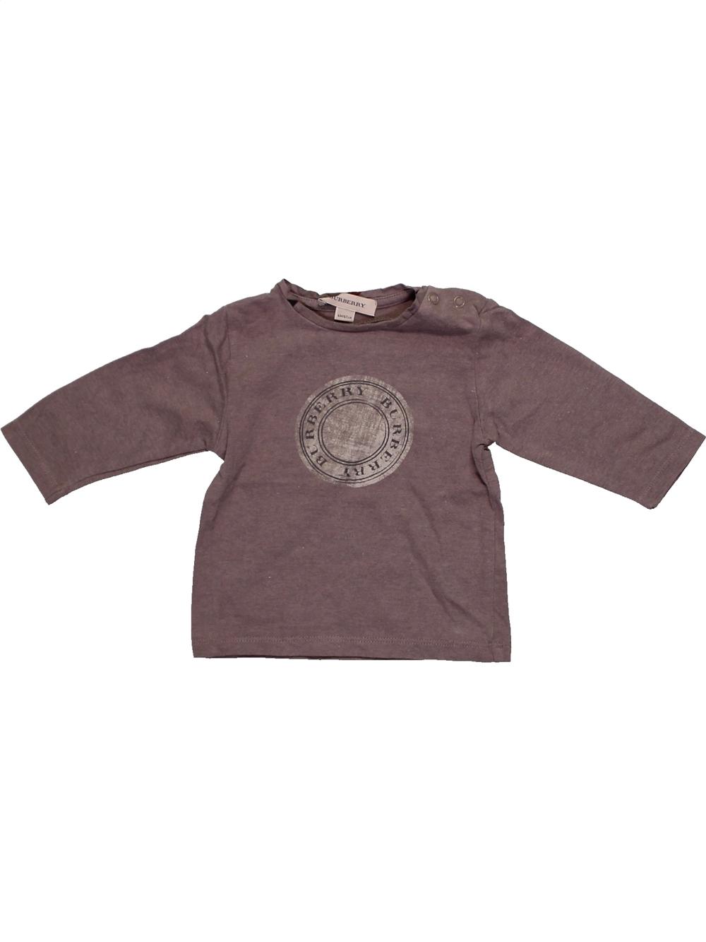 T-shirt-manches-longues-bebe-garcon-BURBERRY-6-mois-marron-hiver-vetement