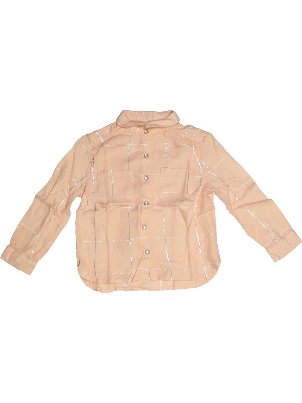 Blouse-manches-longues-enfant-fille-KIABI-4-ans-beige-hiver-vetement-bebe
