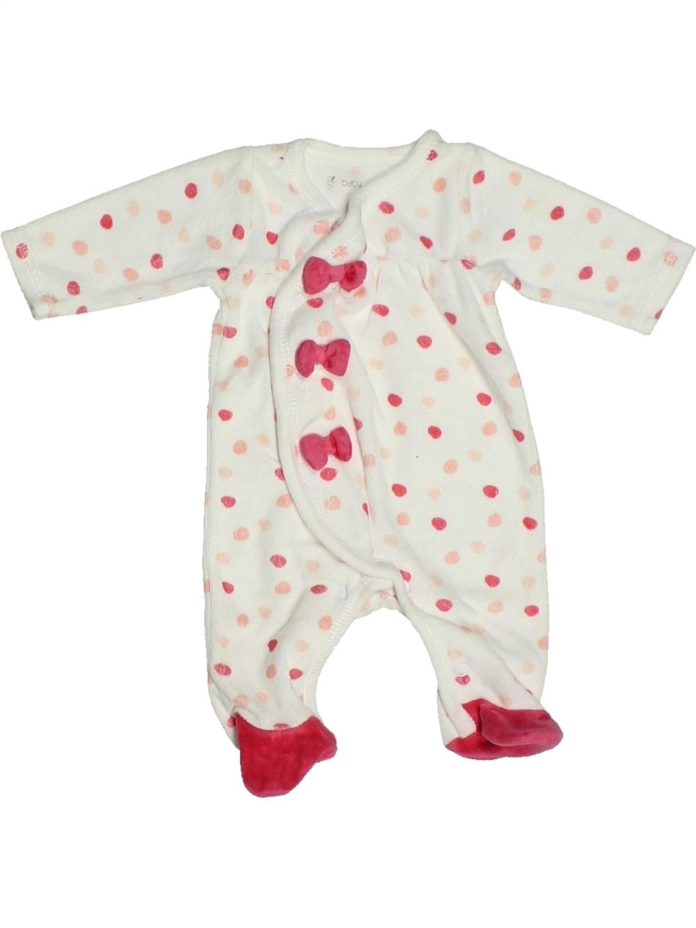 59440e0818f4d Pyjama 1 piece blanc GEMO du naissance pour Fille - 1131900