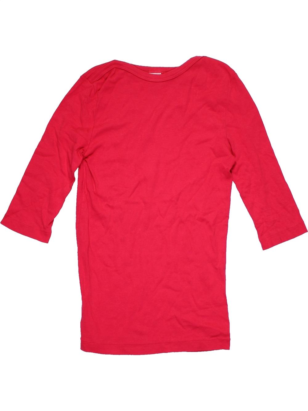 8b95407043bab T-shirt manches longues rouge PETIT BATEAU du 12 ans pour Fille - 1172296