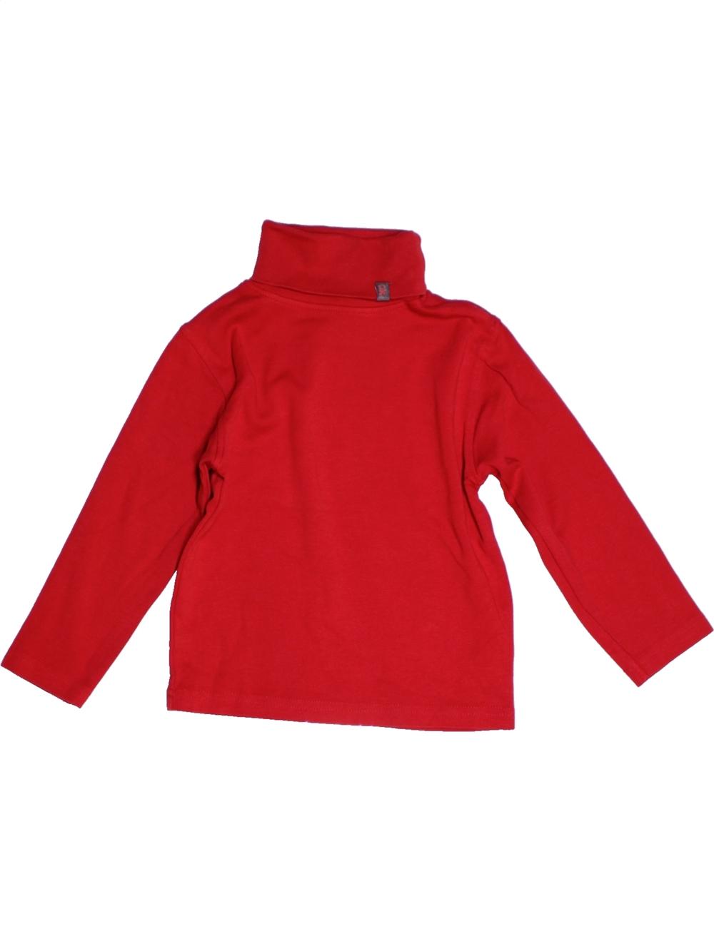 T-shirt-col-roule-enfant-garcon-OKAIDI-5-ans-rouge-hiver-vetement-bebe-1