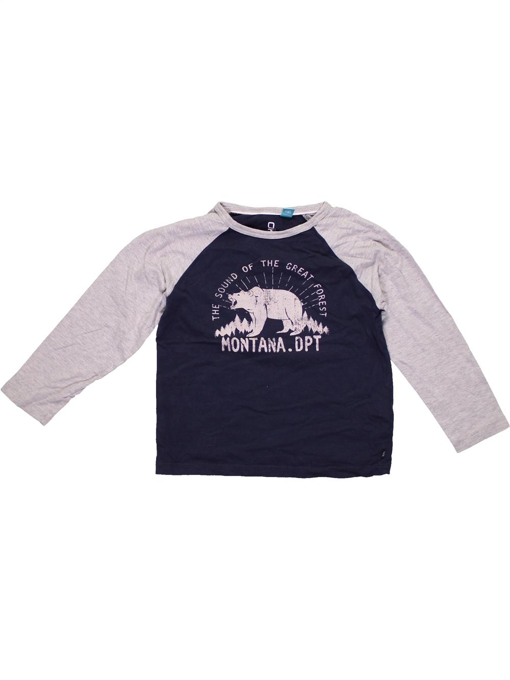 T-shirt-manches-longues-enfant-garA-on-OKAIDI-5-ans-bleu-hiver-vA-tement-bA-bA