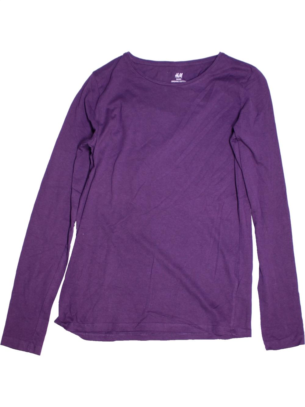 a443ac4a42e8e T-shirt manches longues violet H M du 14 ans pour Garcon - 1183056