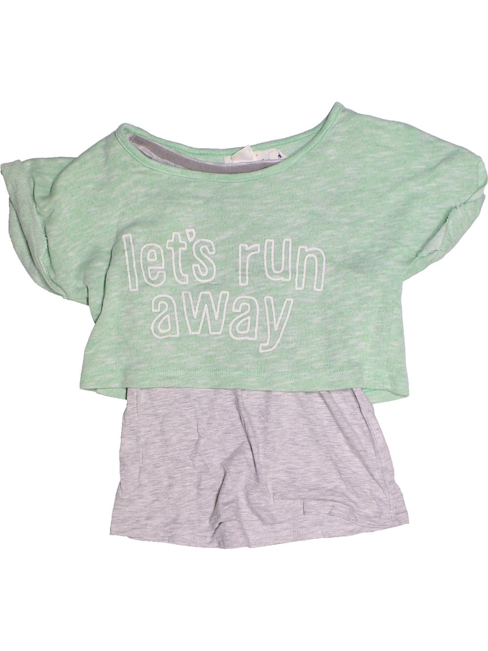 d2c8d565f681b T-shirt manches courtes gris H M du 10 ans pour Fille - 1259414