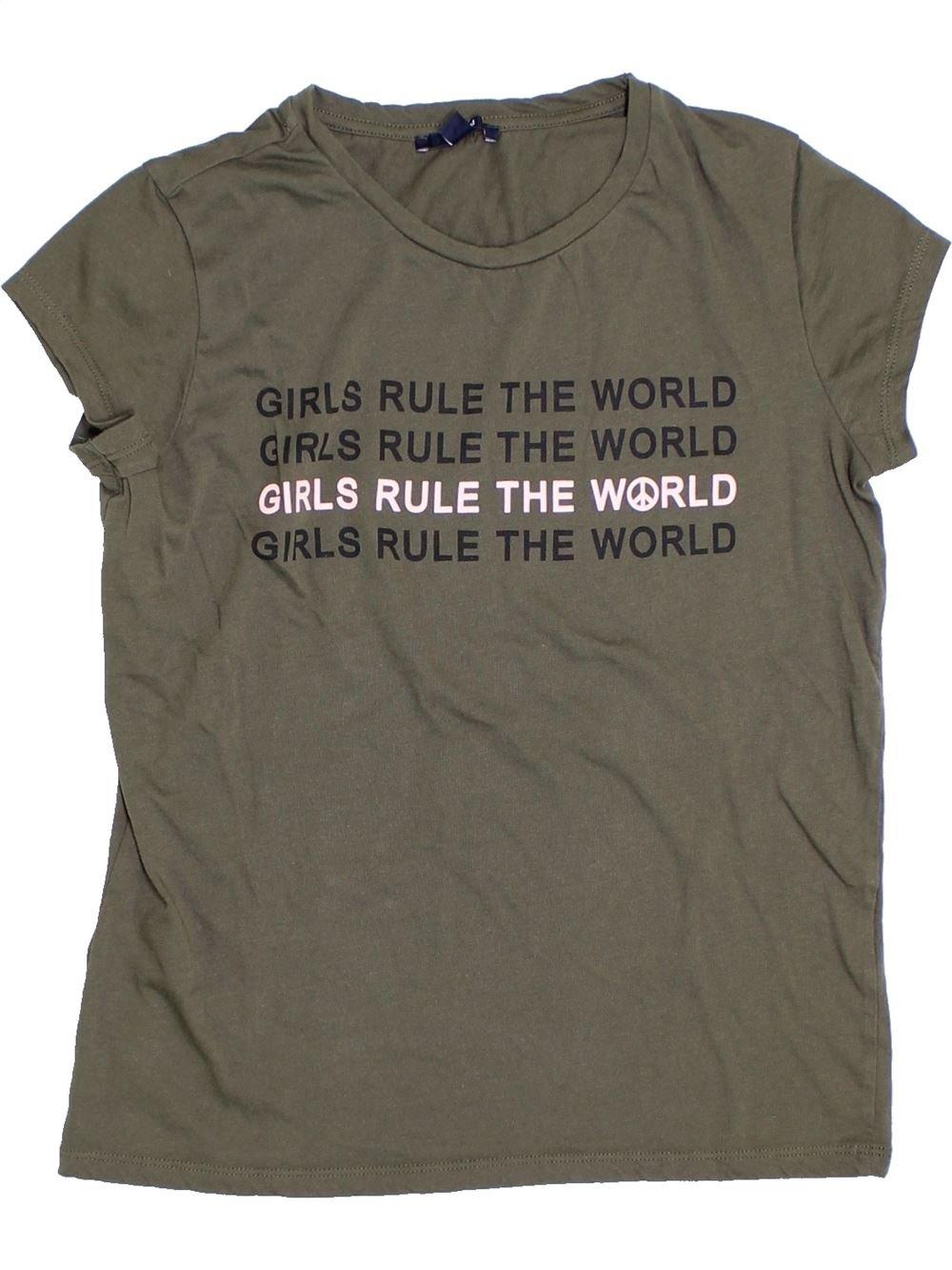 6ee3030e74f82 T-shirt manches courtes marron KIABI du 14 ans pour Fille - 1278473