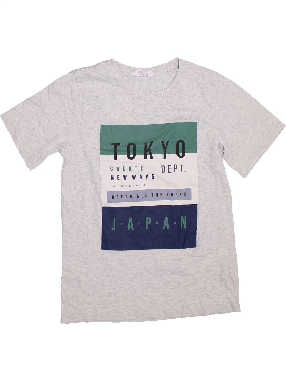 662c6c0101219 T-shirt manches courtes blanc H M du 14 ans pour Garcon - 1304196