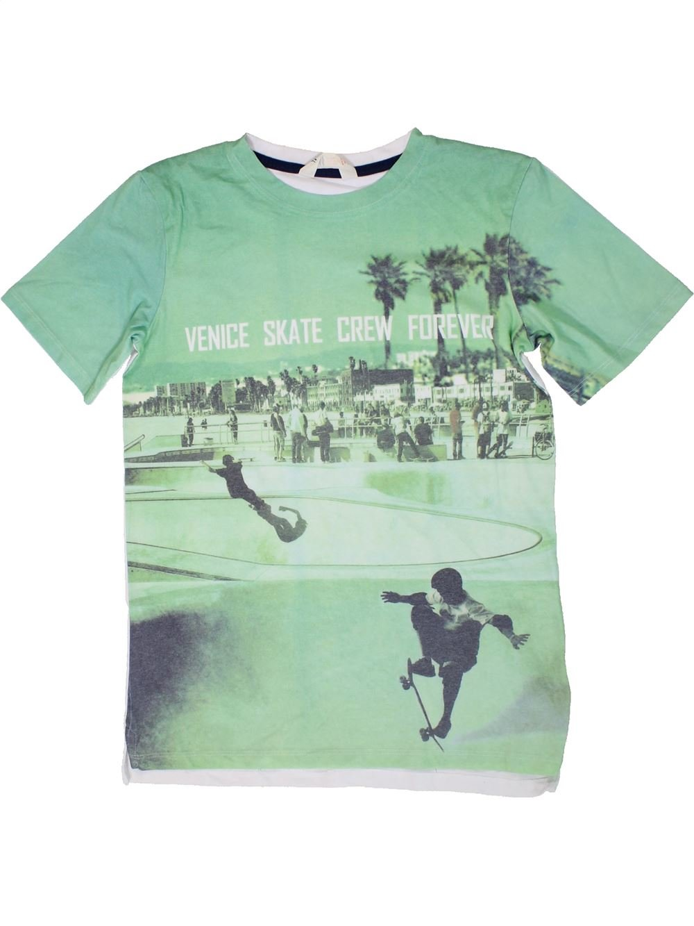 d58eaccc874da T-shirt manches courtes vert H M du 14 ans pour Garcon - 1310407