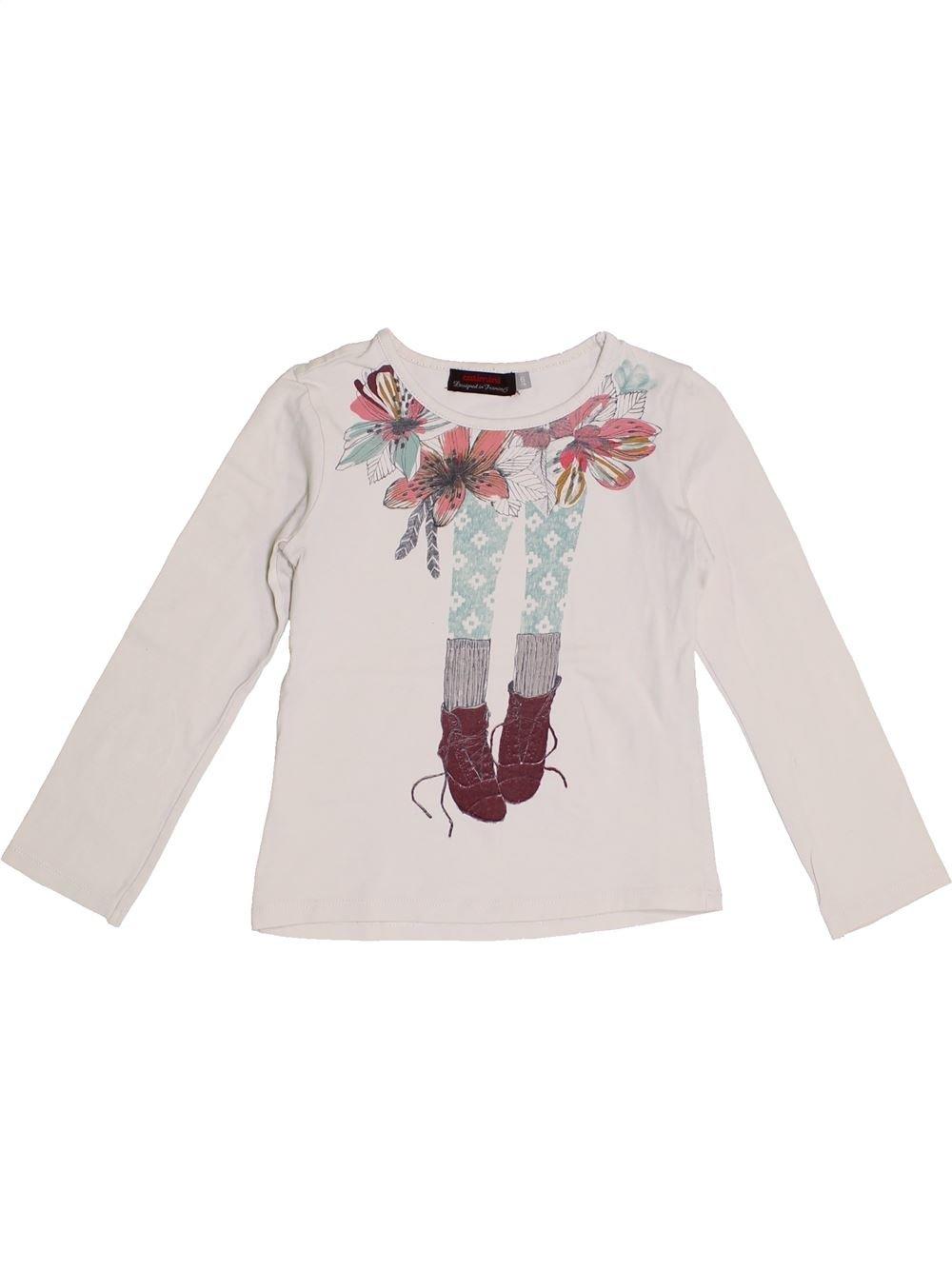 cdb3890650271 T-shirt manches longues blanc CATIMINI du 6 ans pour Fille - 1371122
