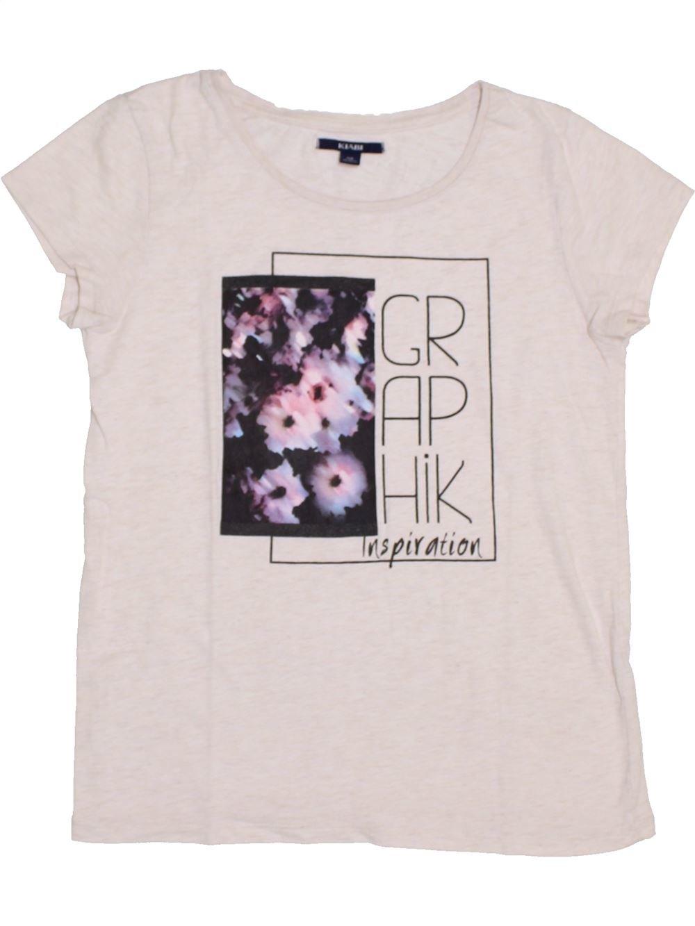 11de88ad00dd0 T-shirt manches courtes blanc KIABI du 12 ans pour Fille - 1383861