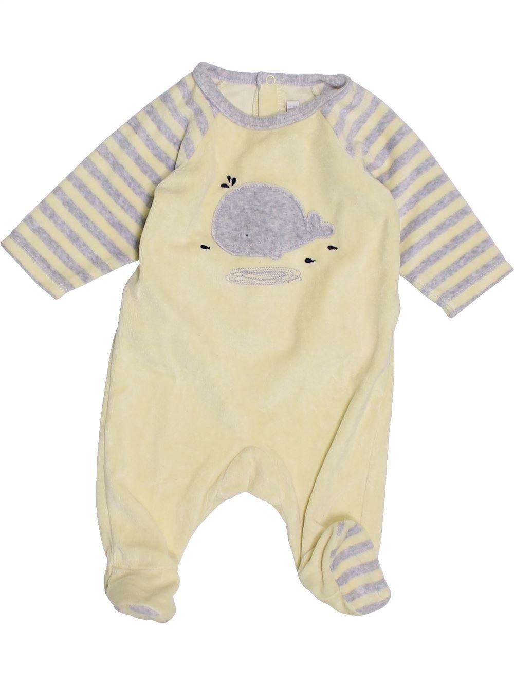 37a5cceac673a Pyjama 1 piece bleu NATALYS du 3 mois pour Fille ou Garcon - 1389490