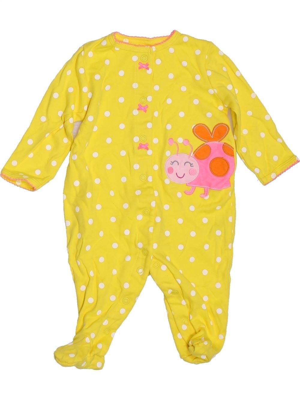 f4f3d76e8b685 Pyjama 1 piece jaune CARTER S du 6 mois pour Fille - 1396831