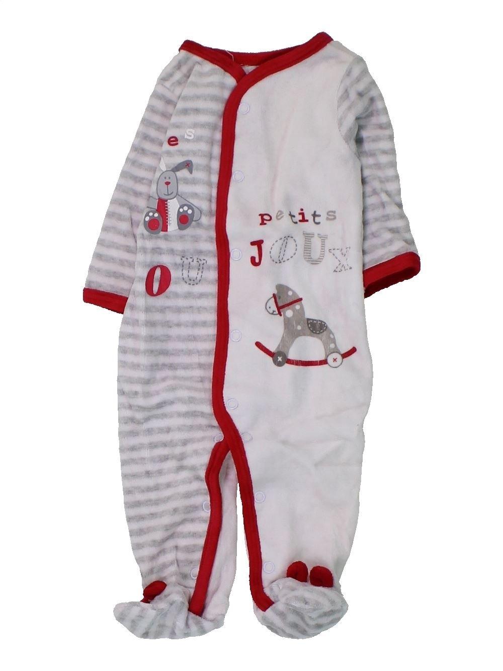be73264e6614f Pyjama 1 piece gris GEMO du 3 mois pour Fille ou Garcon - 1430984