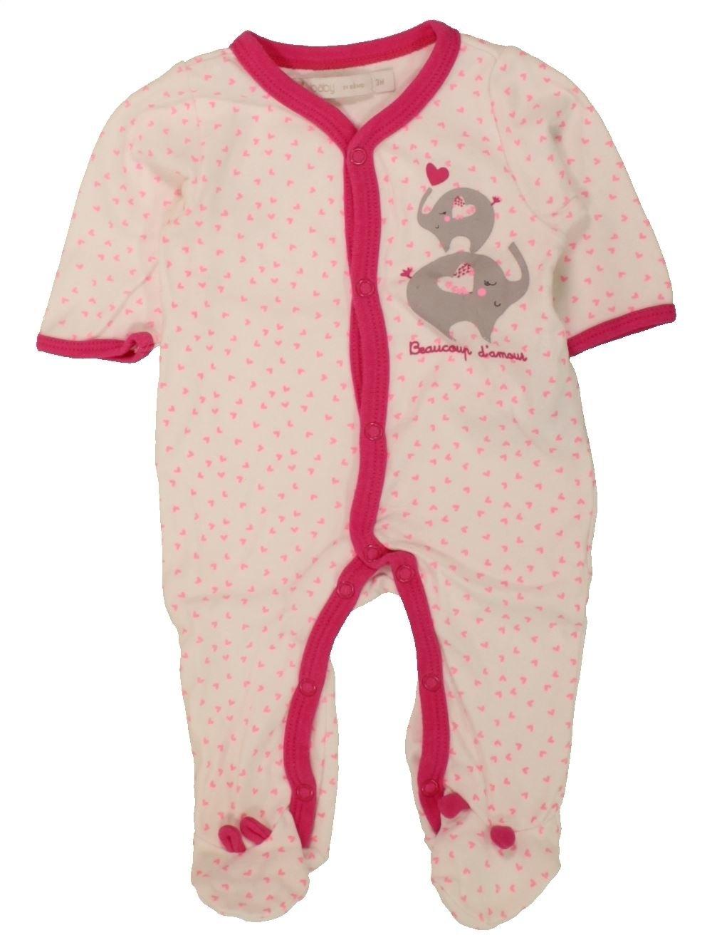 a98eb18afc838 Pyjama 1 piece violet GEMO du 3 mois pour Fille - 1462666