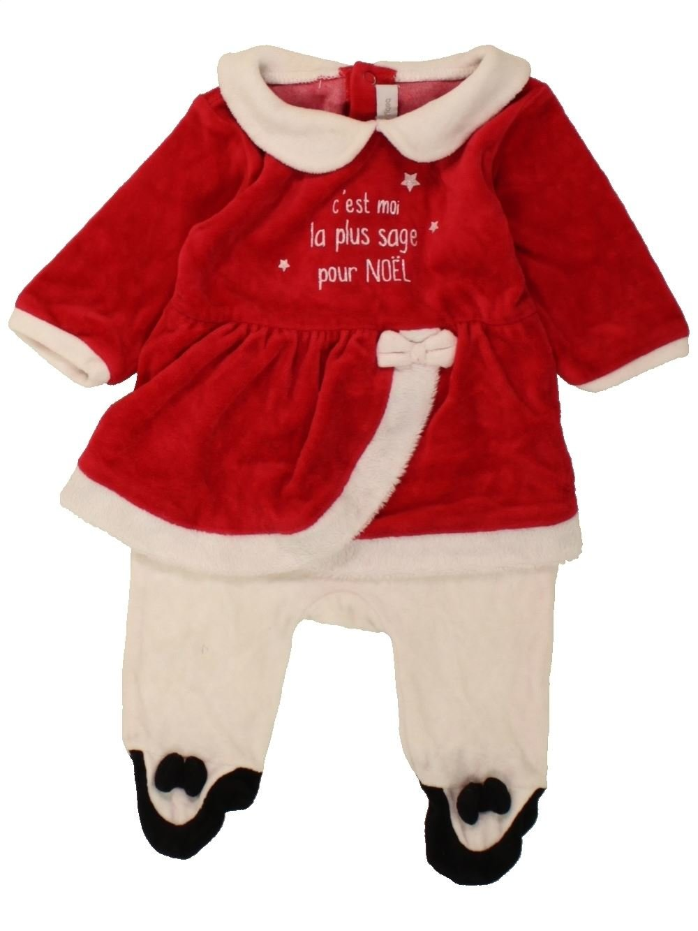 07cfe4059426f Pyjama 1 piece rouge GEMO du 1 mois pour Fille - 1471939