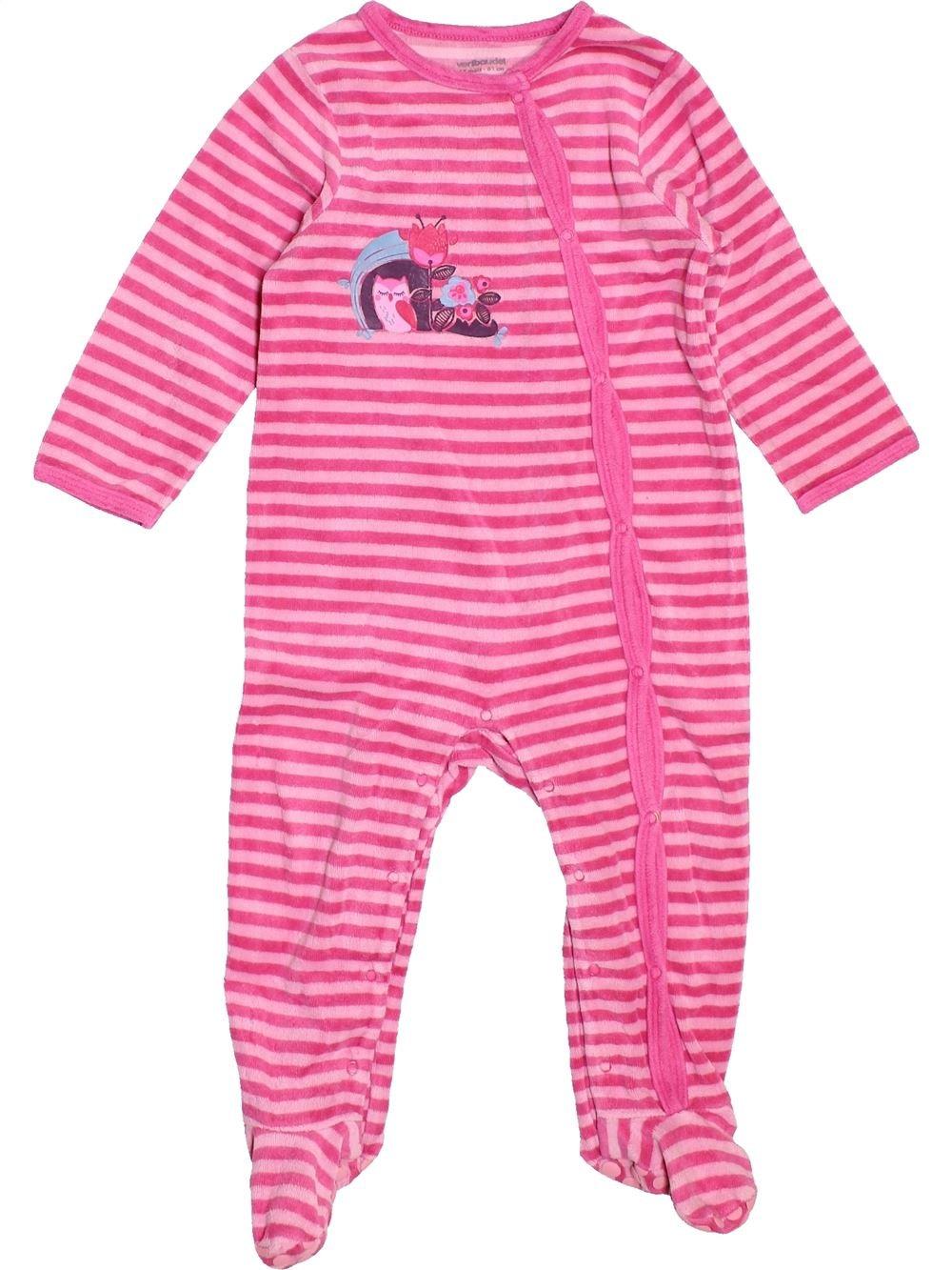 f4342f24907c8 Pyjama 1 piece rose VERTBAUDET du 18 mois pour Fille - 1488026