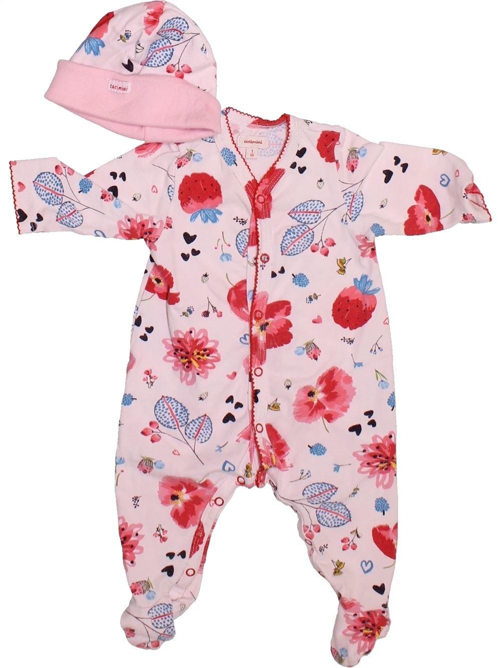 élégant et gracieux livraison gratuite attrayant et durable Pyjama 1 pièce Fille CATIMINI 1 mois pas cher, 7.75 € - #1492790