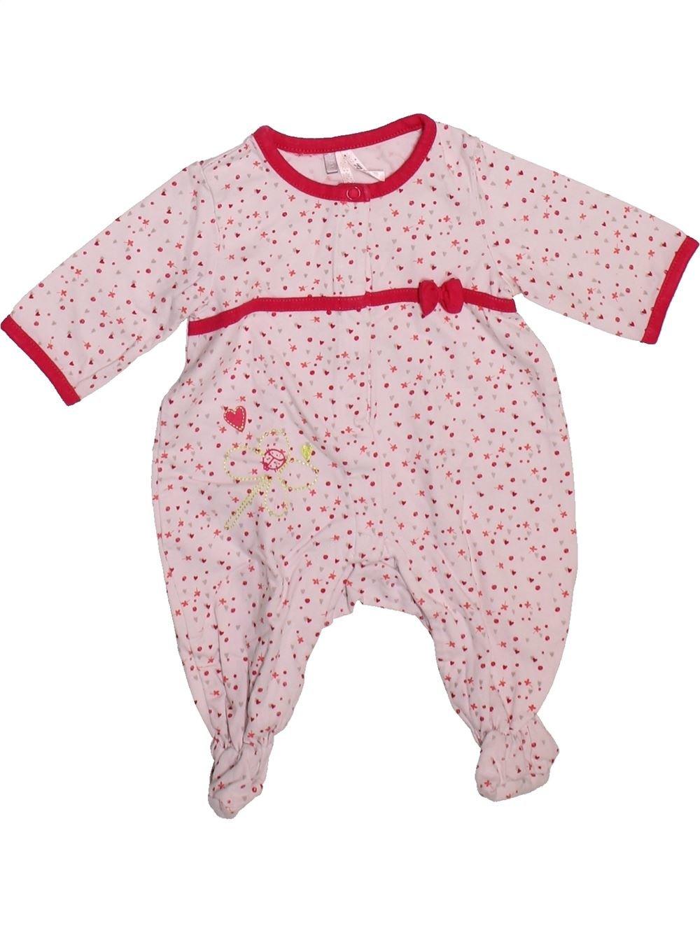 Pyjama 1 Pièce Fille Orchestra 1 Mois Pas Cher 3 75