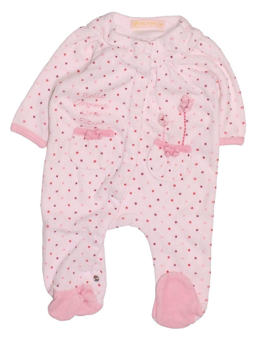 9aefcc94e3d1f Pyjama 1 piece rose GEMO du 3 mois pour Fille - 1494823