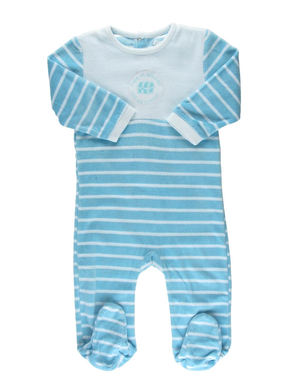 253e9557d7dba Pyjama 1 piece bleu MES PETITS CAILLOUX du 18 mois pour Garcon - 350618