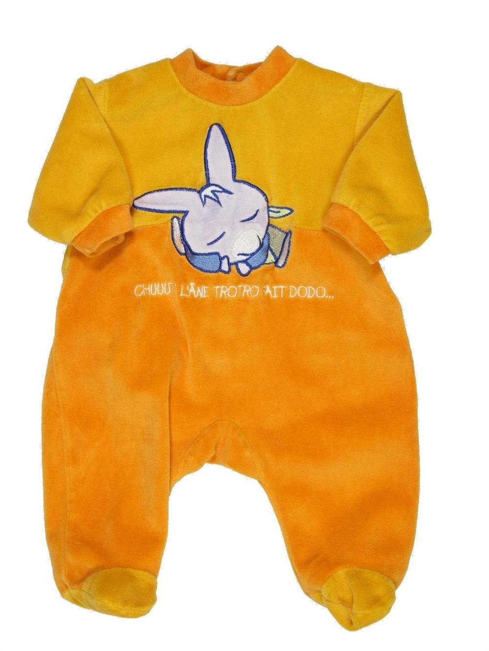 b3284064c4180 Pyjama 1 piece orange L ANE TROTRO du 1 mois pour Garcon - 391077