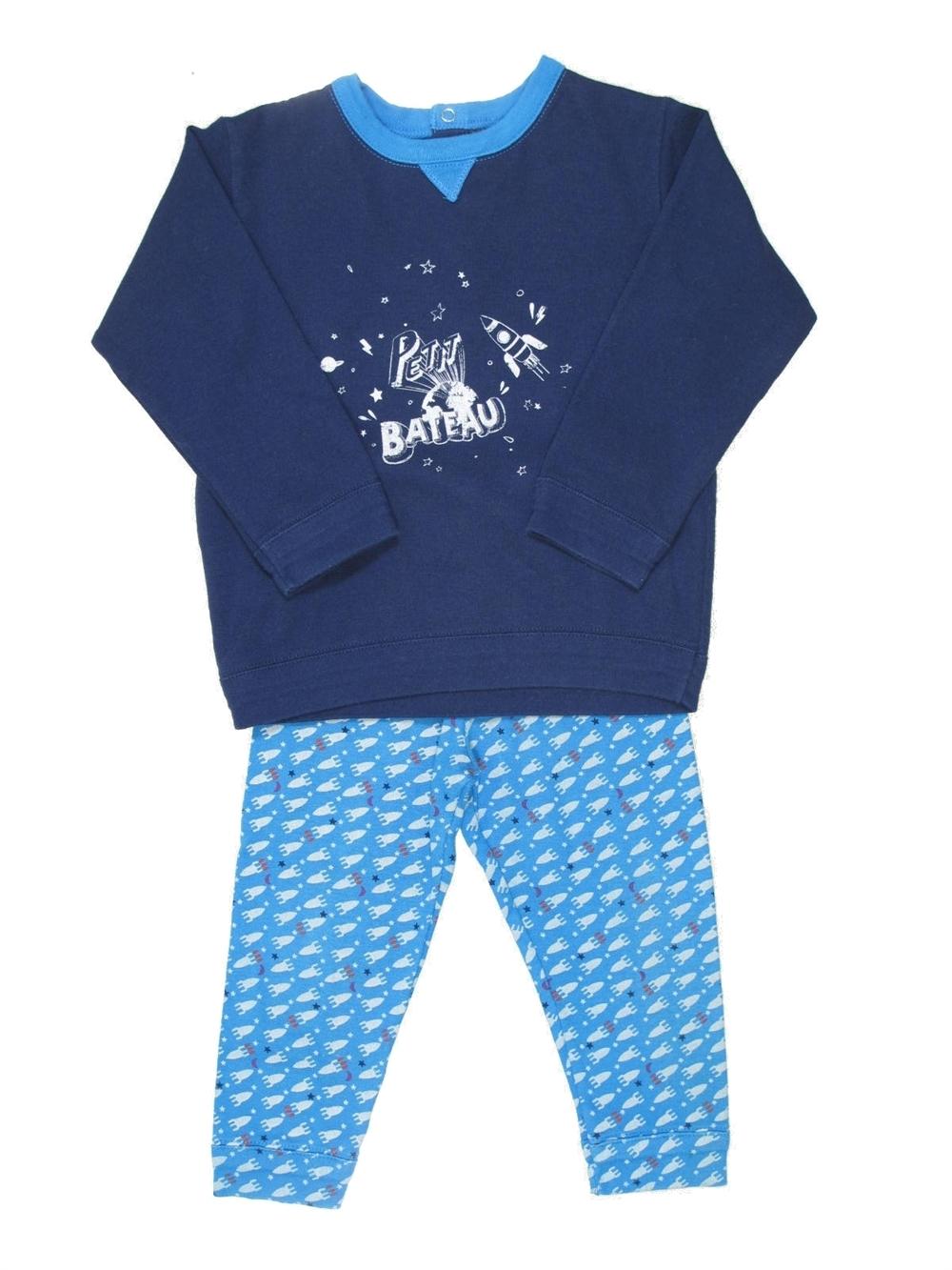 75f6a81832487 Pyjama 2 pieces bleu PETIT BATEAU du 18 mois pour Garcon - 392026