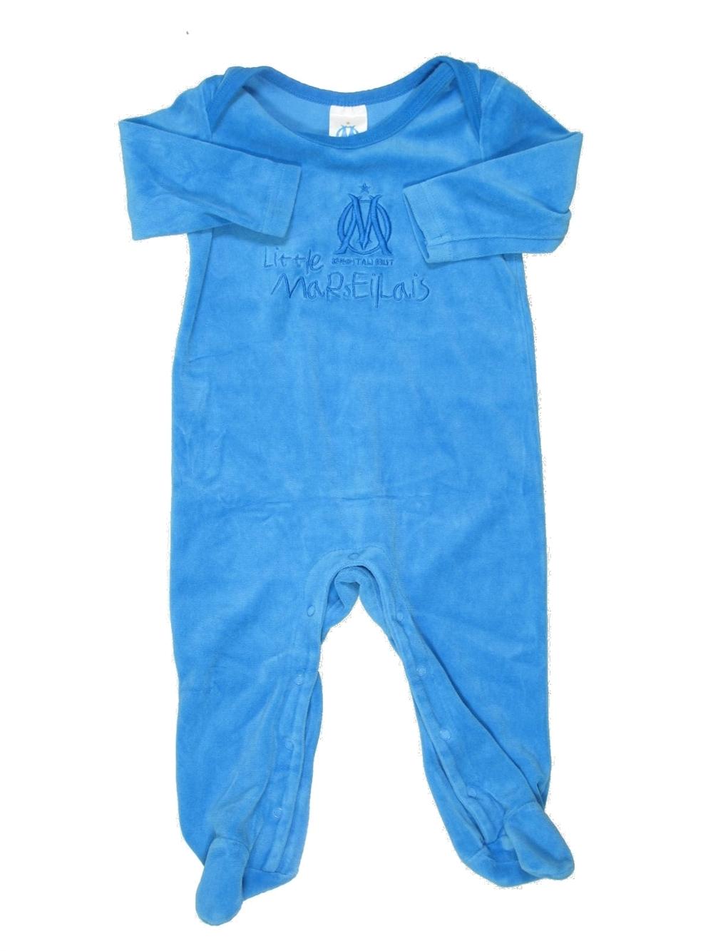 89ccd55bc3627 Pyjama 1 piece bleu OLYMPIQUE DE MARSEILLE du 12 mois pour Garcon - 413243