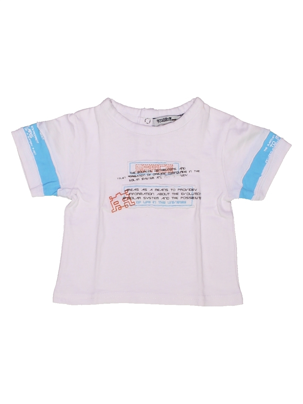T-shirt manches courtes bébé garçon TAPE À L'OEIL 3 mois blanc été - vête